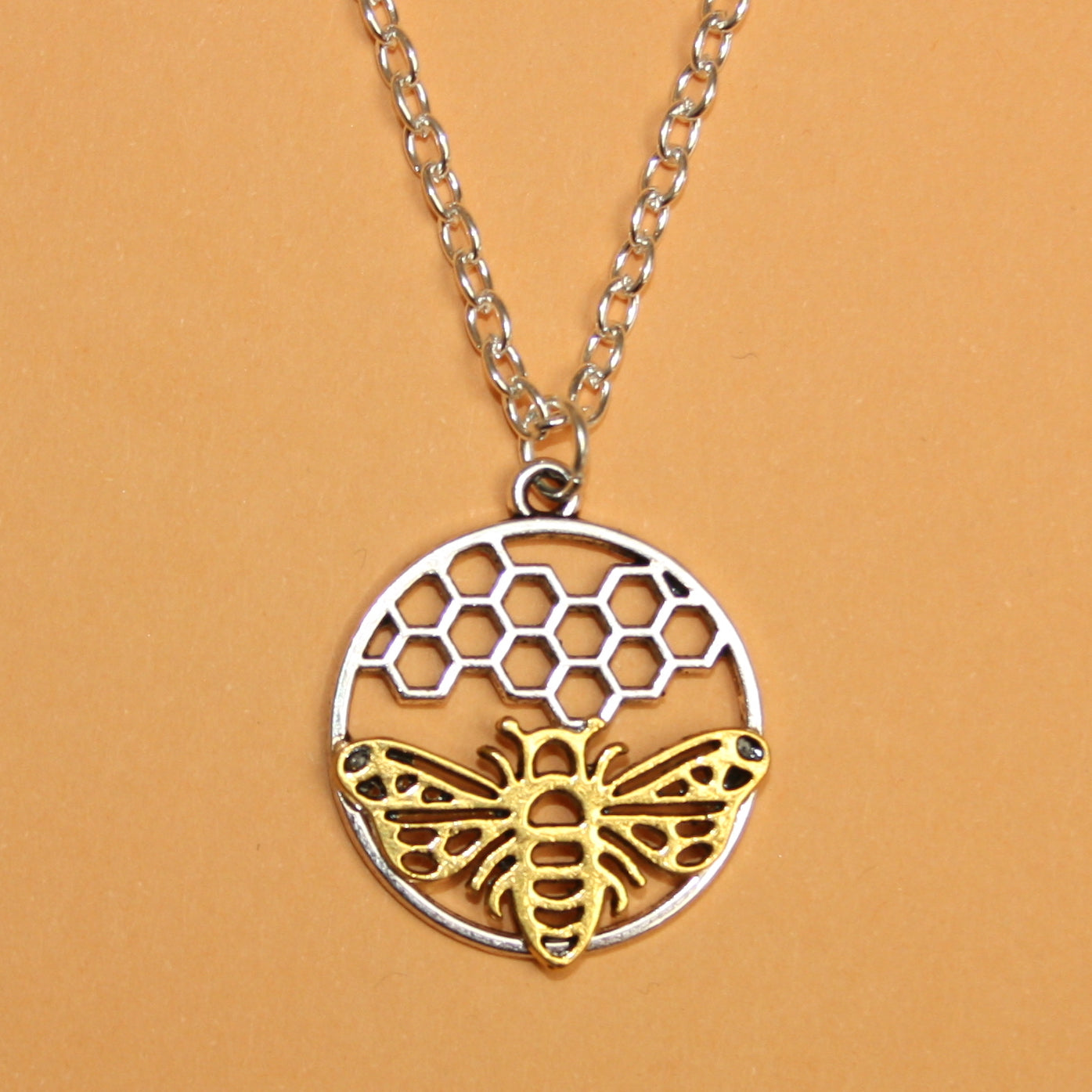 Bee Circle Necklace
