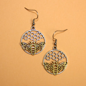 Bee Circle Earrings