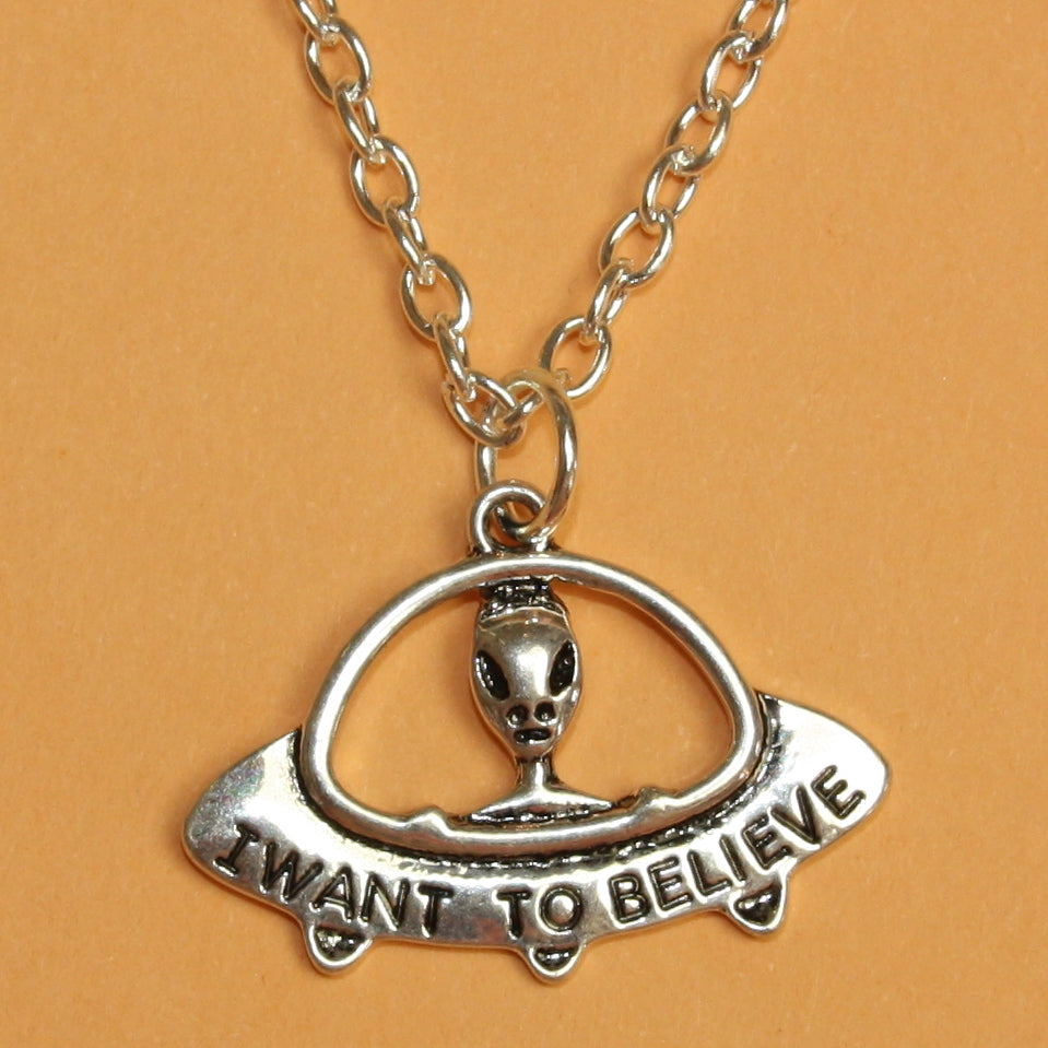 I Want To Believe UFO Necklace