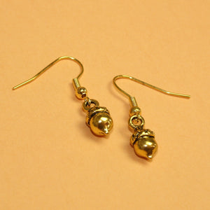 Gold Acorn Earrings