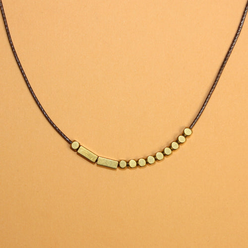 Wish in Morse Code Necklace