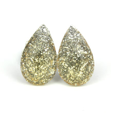 Load image into Gallery viewer, Gold Glitter Drop Stud Earrings