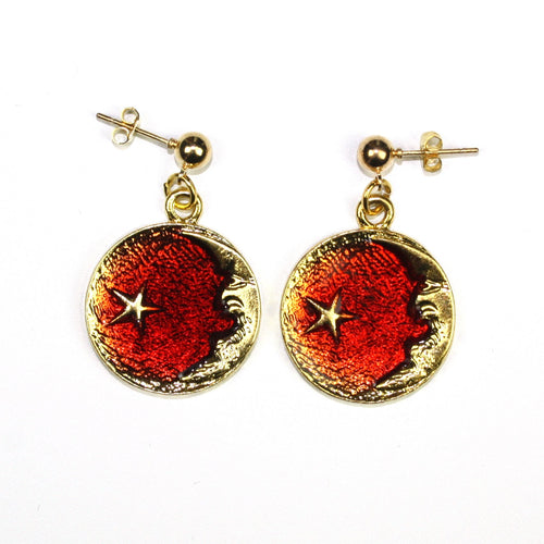Once In A Red Moon Studs