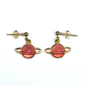 Peach Planet Earrings