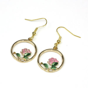 Vintage Style Rose Earrings
