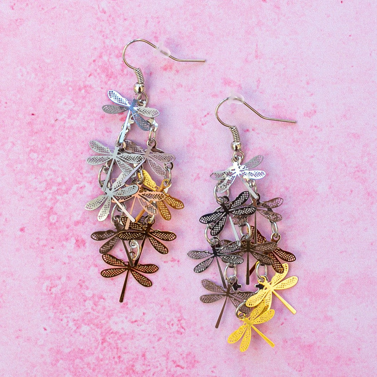 Multicolour Dragonfly Earrings