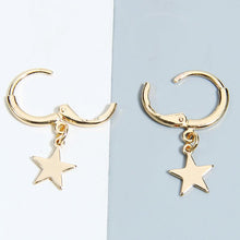 Load image into Gallery viewer, Star Hoop Earrings (Gold Plated)