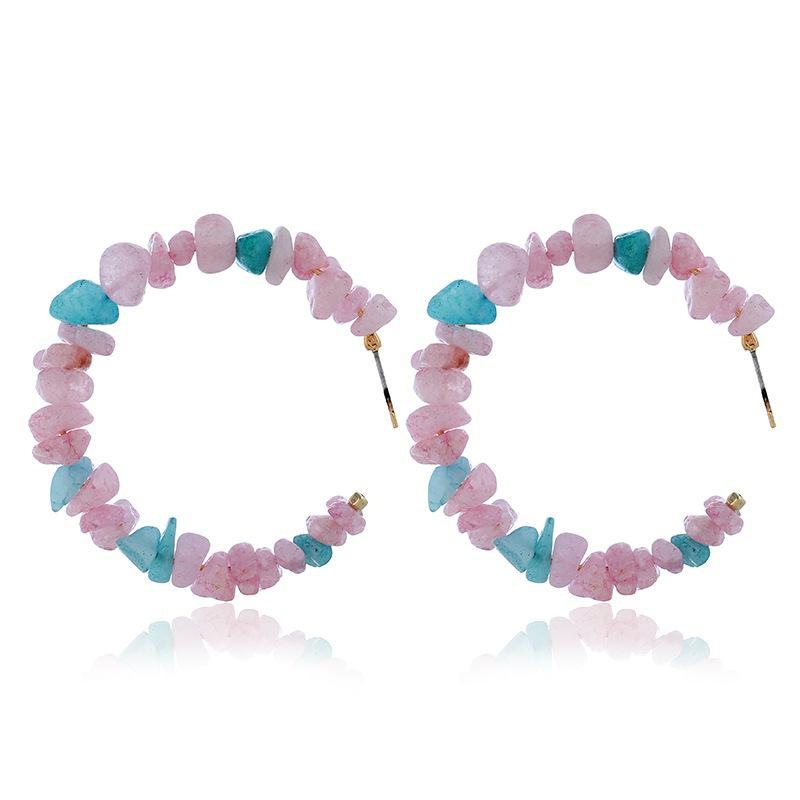Pink & Blue Rock Hoops
