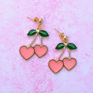 I Heart Cherries Earrings