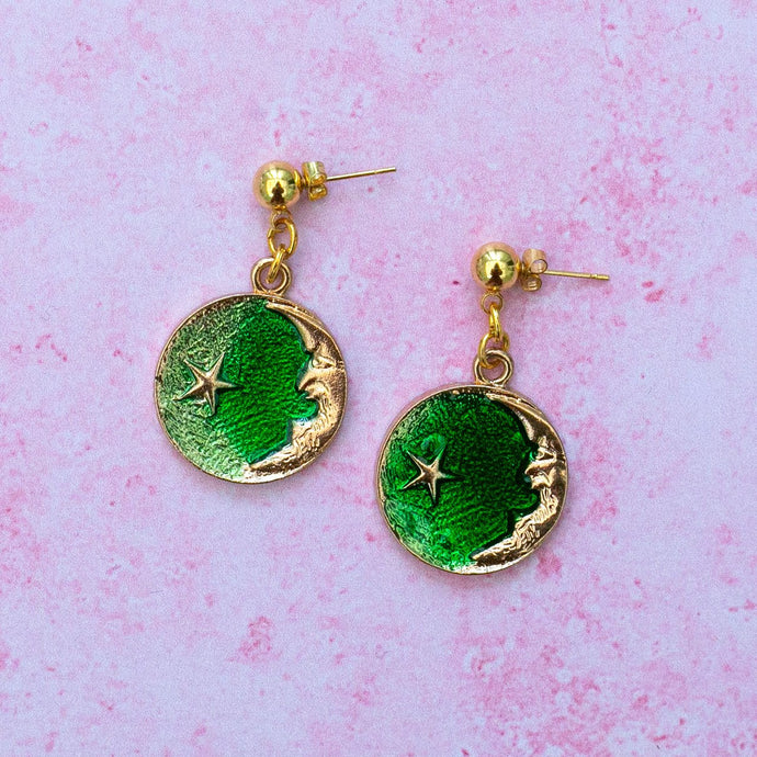 Once In A Green Moon Earrings