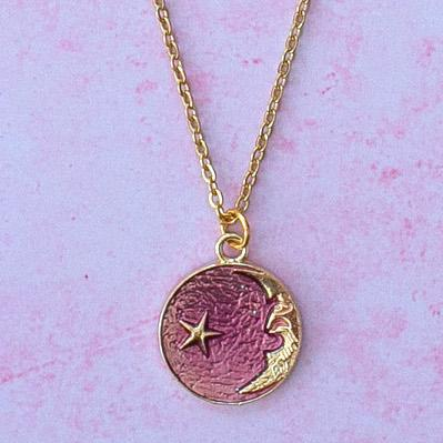 Once in a Purple Moon Necklace