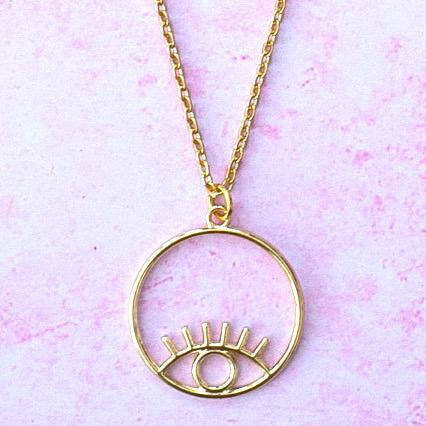 Circle Eye Necklace (Stainless steel/Gold plated)