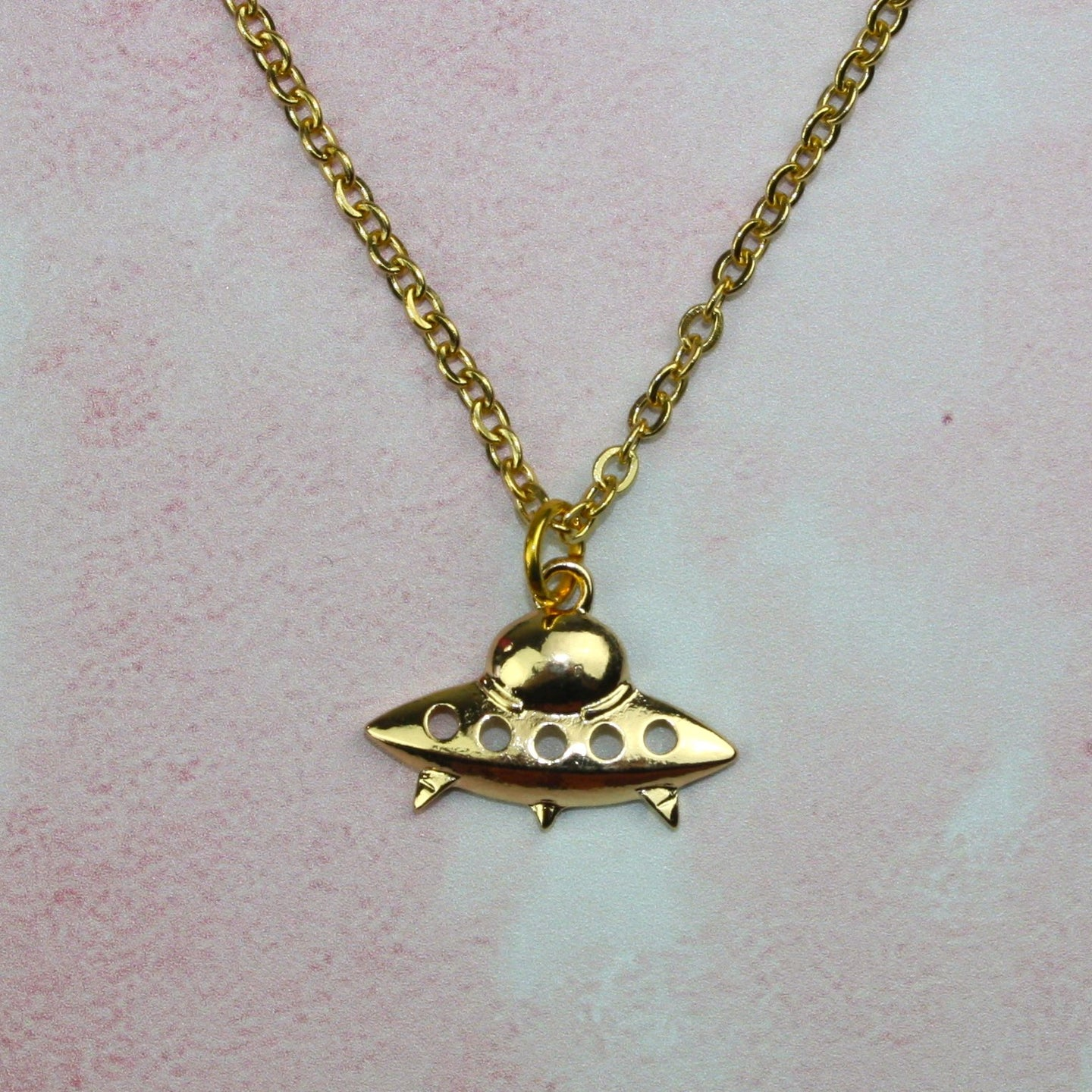 Gold UFO Necklace