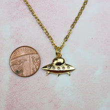 Load image into Gallery viewer, Gold UFO Necklace