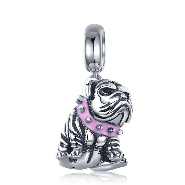 Sterling Silver Pug Charm