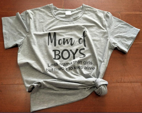 Mom Of Boys Shirts