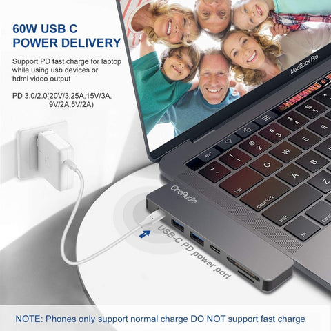Multiport Usb-c Hub For Macbook Pro
