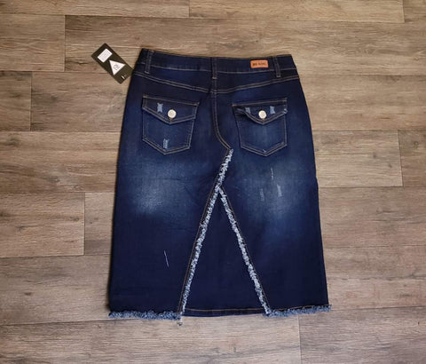 Distressed Denim Skirt Style Number #76333 in 26