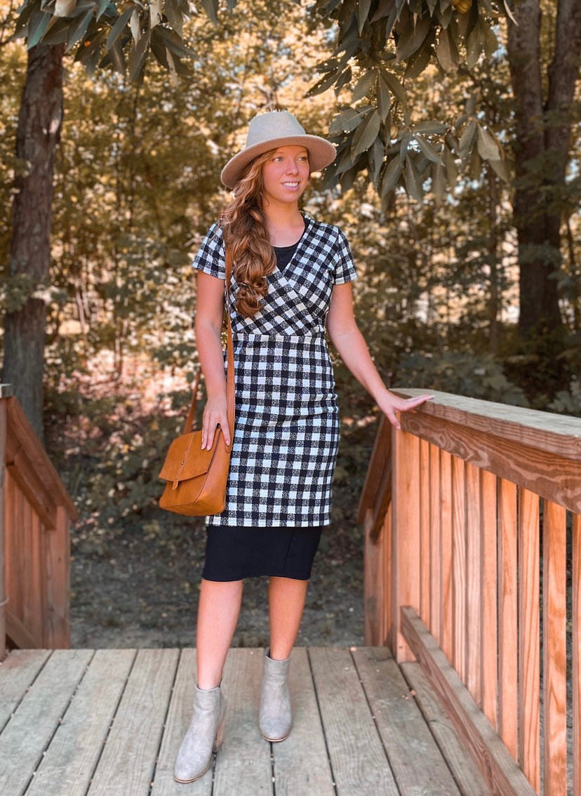 Black & White Checkered Tunic