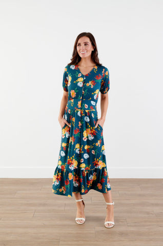 Pre-Order Floral Dress with Ruffle