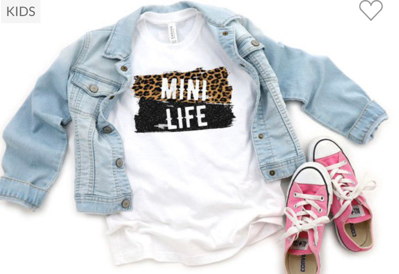 "GIRLS ""Mini Life"" Tee in White"