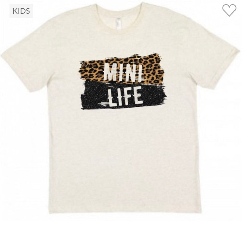 "GIRLS ""Mini Life"" Tee in Cream"
