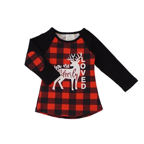 Girl's Red Buffalo Plaid Shirt