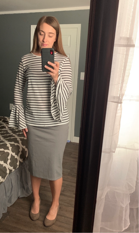 Light Gray Pencil Skirts