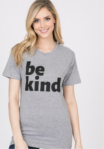 Be Kind Tee in Heather Gray