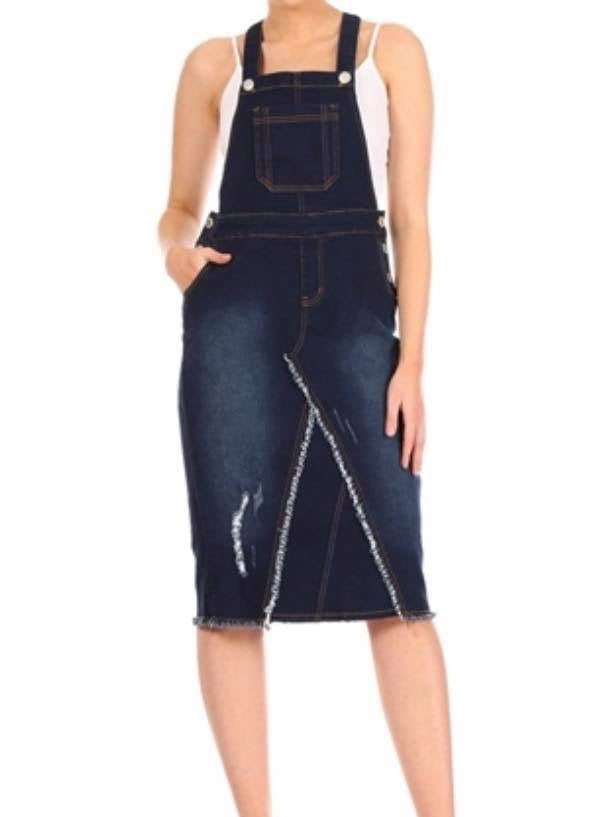 Ladies Denim Overall Jumpers with Distressing