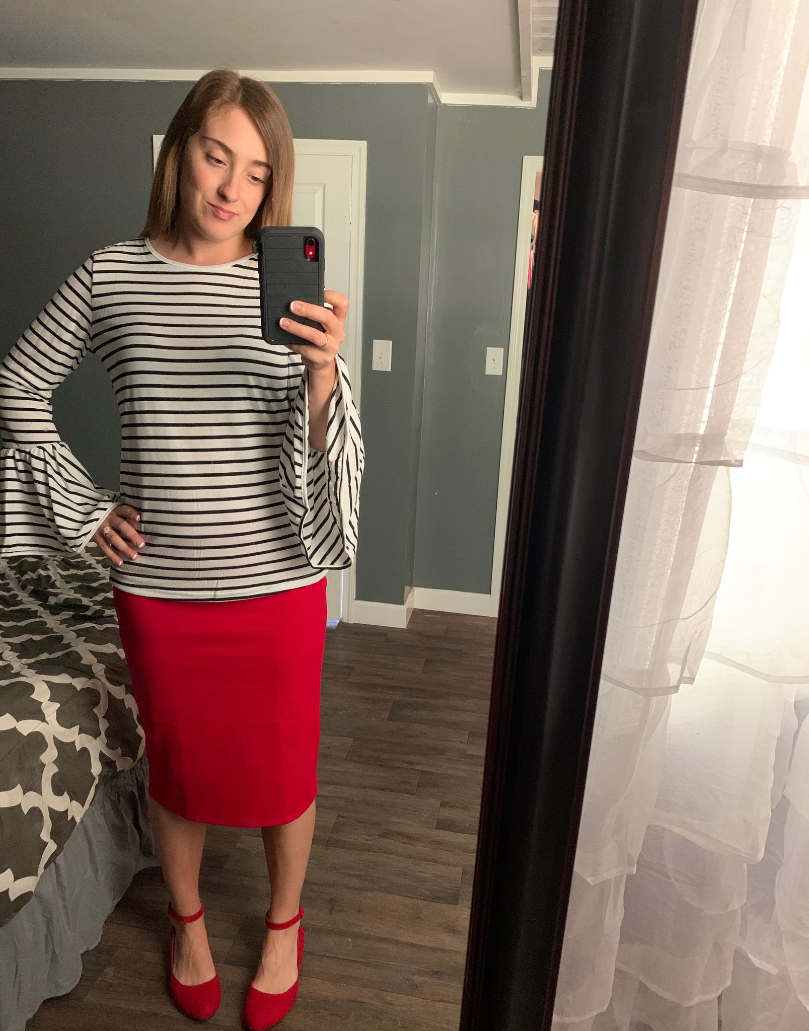 Red Pencil Skirts