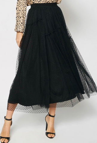 Ladies Dressy Tulle Skirt in Black