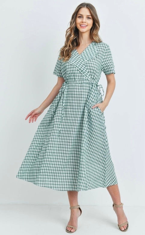Green Checkered Dresses