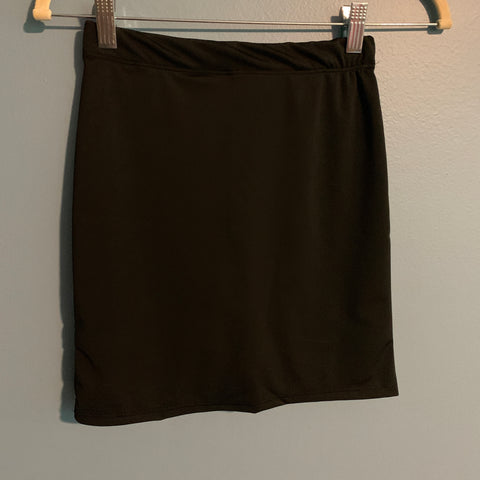 Girls Black Athletic & Swim Skirt with Built-in Shorts