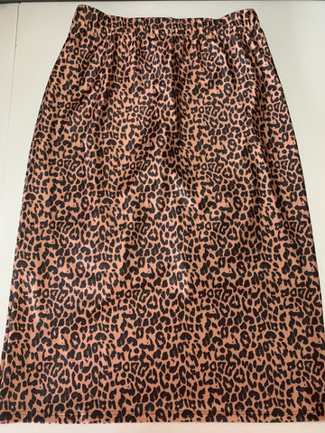 Leopard Print Pencil Style Athletic Skirt with Built-in Shorts