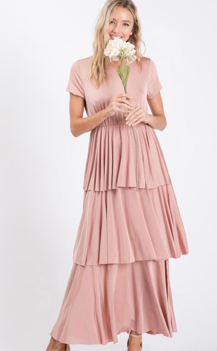 Blush Pink Ruffled Dress