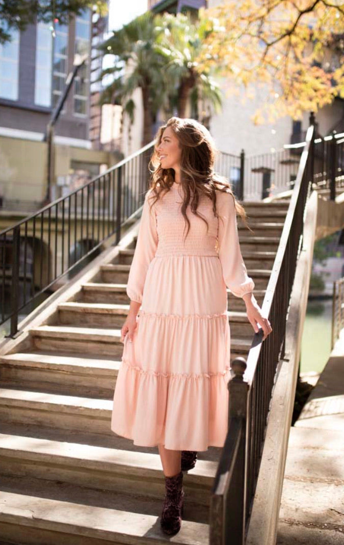 Pre-Order Blush Pink Ruffle Dress