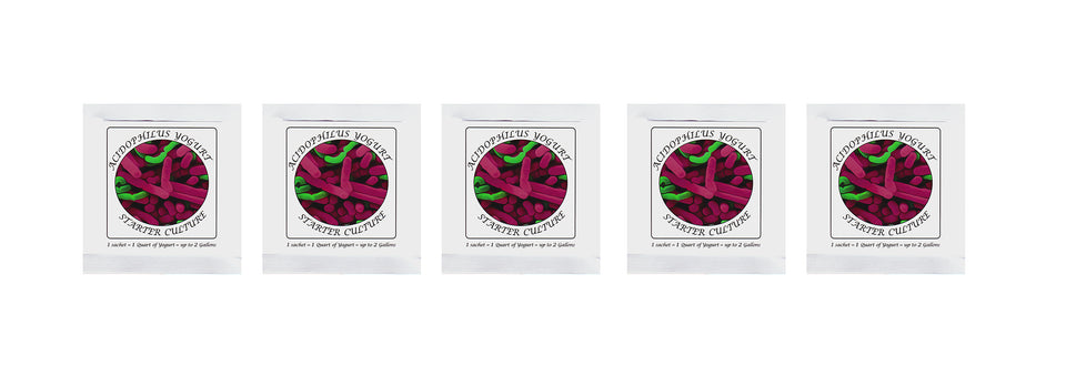 Buy Online Pack of 5 Freeze-dried Culture Sachets for Acidophilus Yogurt