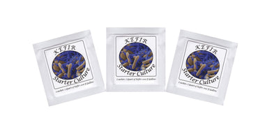 Kefir Starter Culture - Pack of 3 Freeze Dried Sachets - Authentic Homemade Yogurt and Kefir from NPSelection