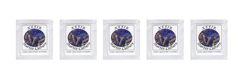 Kefir Starter Culture - Pack of 5 Freeze Dried Sachets - NPSelection