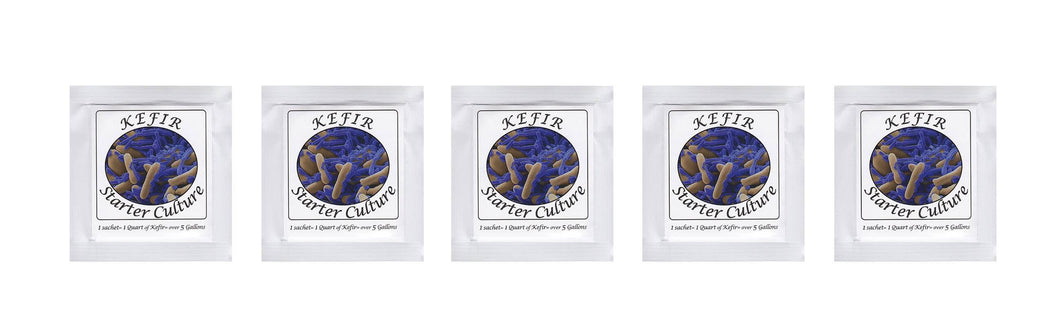 Kefir Starter Culture - Pack of 5 Freeze Dried Sachets - Authentic Homemade Yogurt and Kefir from NPSelection