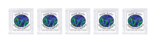 Kefir Starter Cultures - Pack of 5 Freeze-Dried Culture Sachets For Creamy and Mild Milk Kefir - NPSelection