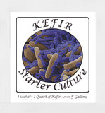 Kefir Starter Culture - Pack of 12 Freeze Dried Sachets - Authentic Homemade Yogurt and Kefir from NPSelection