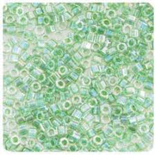 Load image into Gallery viewer, Delica Seed Beads RD 11/0 Green Lime AB Lined Dyed DB060