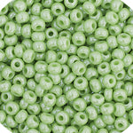 Load image into Gallery viewer, Czech Seedbead 11/0 Green  Luster Opaque approx 23g
