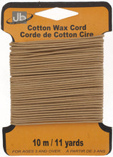 Load image into Gallery viewer, COTTON WAX CORD 1.5mm ROUND  5HEADERSx10MTR=50MTR LT.MUSTRD