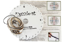 Load image into Gallery viewer, DAZZLE-IT!® KUMIHIMO BRAIDING KIT WITH CORD - ROUND DISK