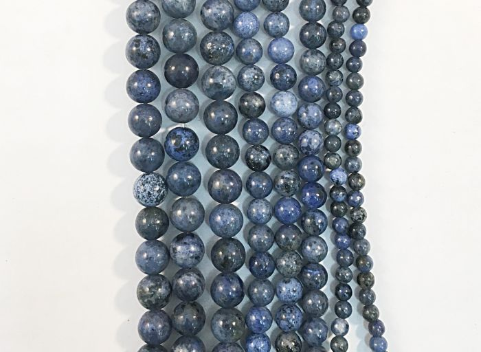 Dumortierite Natural Gemstone Bead Strand #10-171