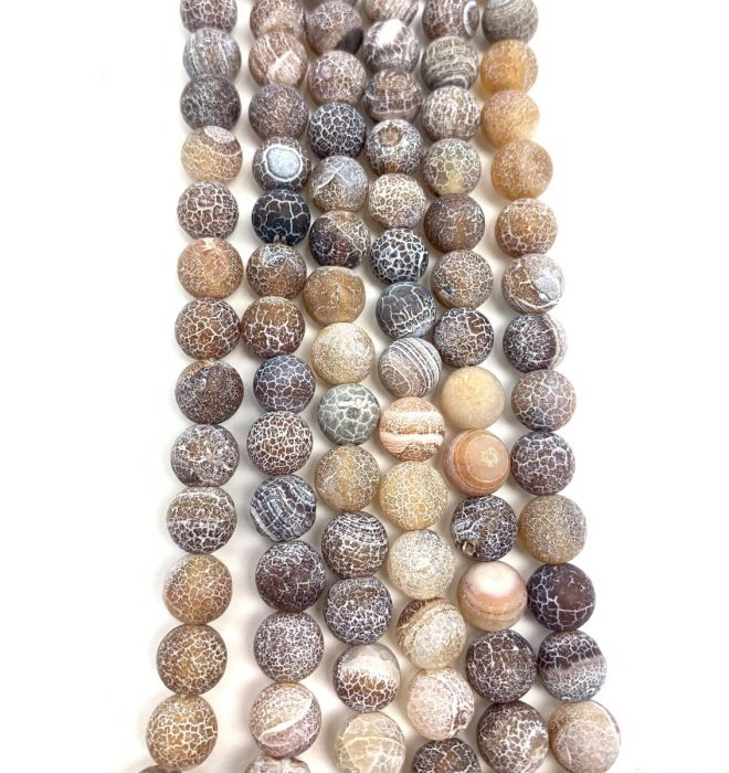 Natural Coffee Efflorescence Agate Gemstone Beads #10-204