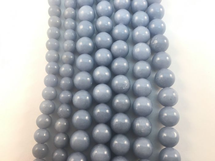 Angelite (Celestite) Natural Bead Strand #10-95